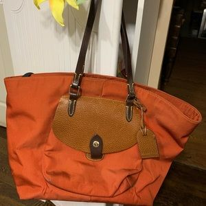 Large orange Dooney & Bourke Tote bag